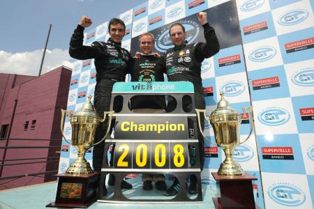 I piloti Bertolini, Webster e Bartels sul podio