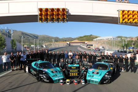 Il vitttorioso Vitaphone Racing Team al gran completo