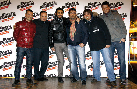 Il team di Elaborare presente all'anteprima di Fast&Furious