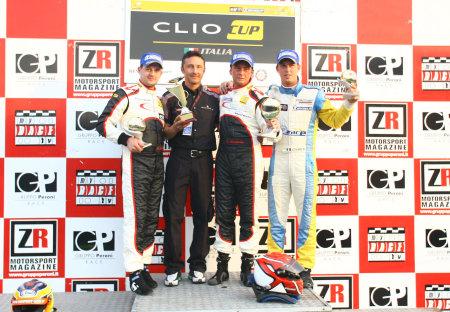 Clio Cup Italia Podio Monza