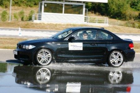 Robert Kubica in azione al Centro Guida Sicura di Vallelunga