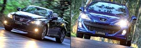 Lexus IS 250 C & Peugeot 308 CC