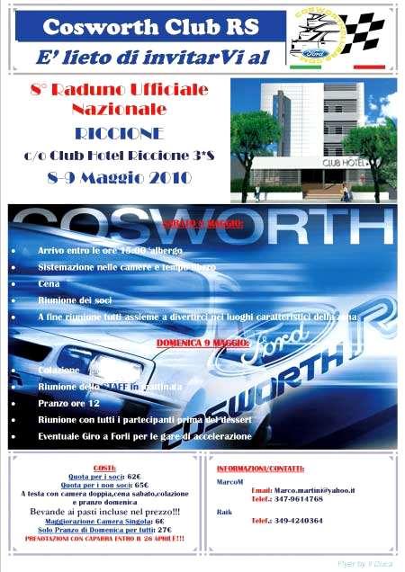 8° Raduno Nazionale Cosworth Club Rs