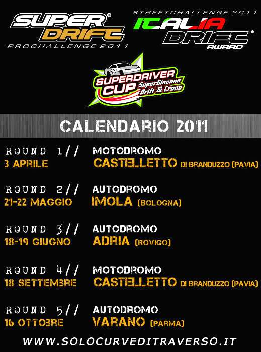 Solocurveditraverso Calendario 2011