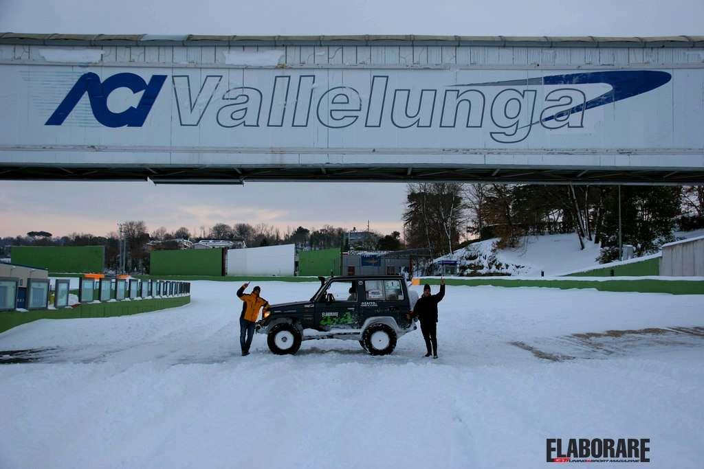 Photo of A Vallelunga si gira in pista anche con la neve!