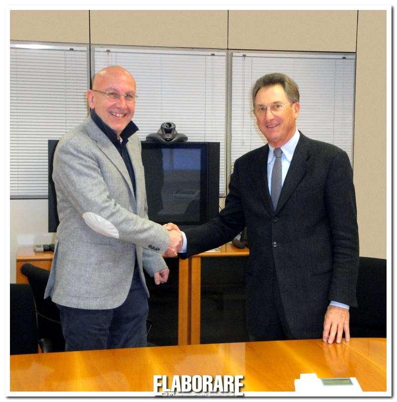 Da sinistra Corrado Bergagna Presidente ASSORUOTE e Lorenzo Bessone presidente EUWA