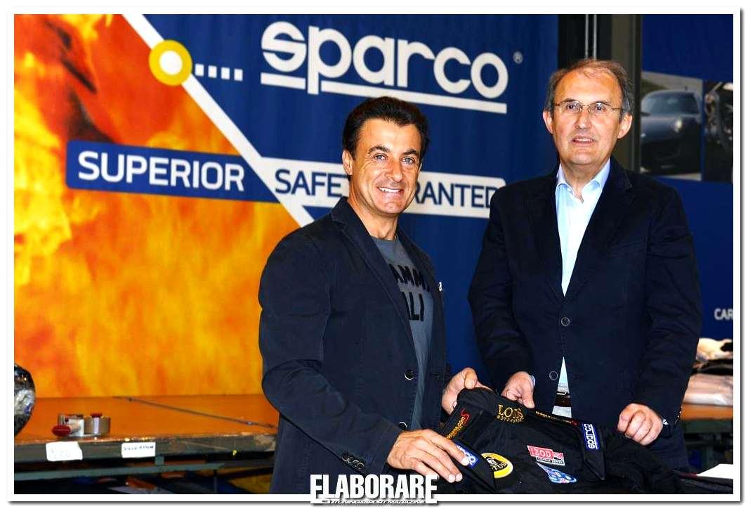 Jean Alesi e Claudio Pastoris AD Sparco