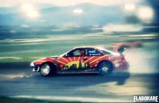 Drifting car show