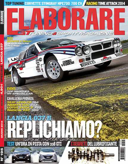 Photo of Cover Story Lancia 037 su Elaborare 195 Giugno 2014 in edicola