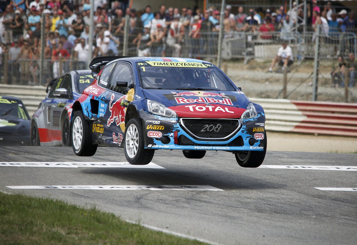 Photo of Podio Peugeot Rallycross in Francia