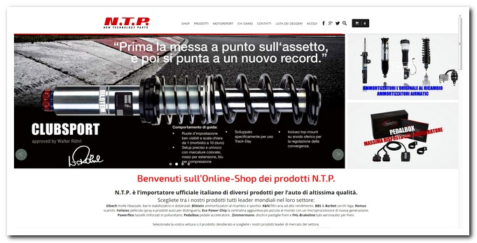 Photo of NTP nuovo sito shop su web