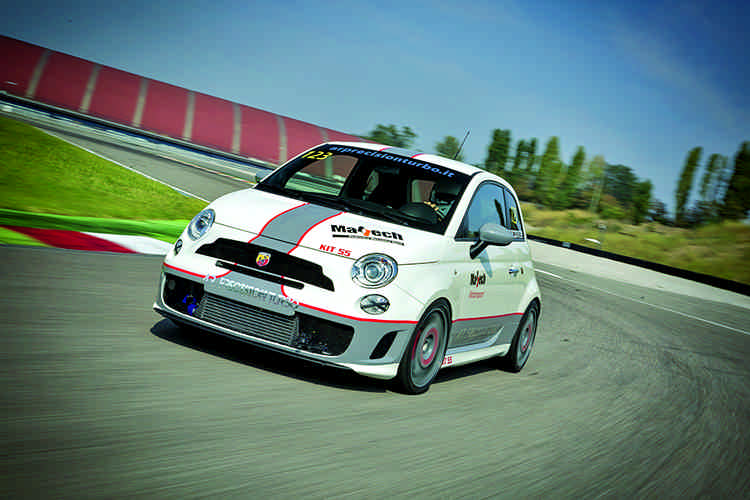 Photo of Abarth 500 test in pista Modena