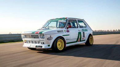 Photo of Fiat 127 Top elaborata auto storica test in pista con livrea Alitalia