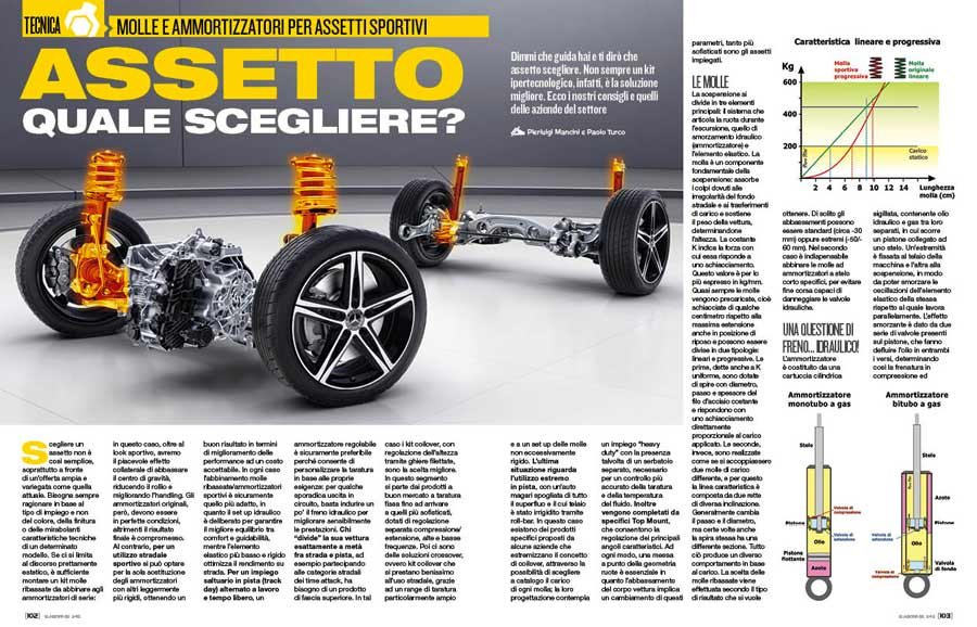 Assetto sportivo: come scegliere molle e ammortizzatori più adatti all'auto