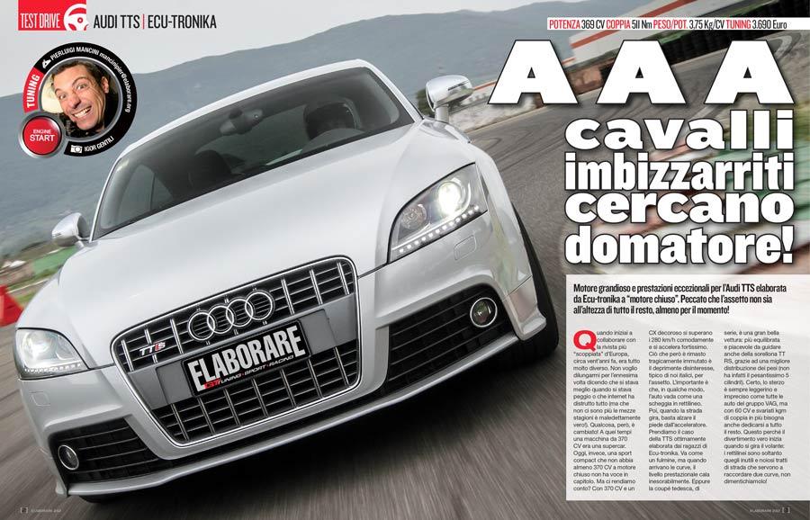 Audi TTS 2.0 elaborata da Ecu-Tronika