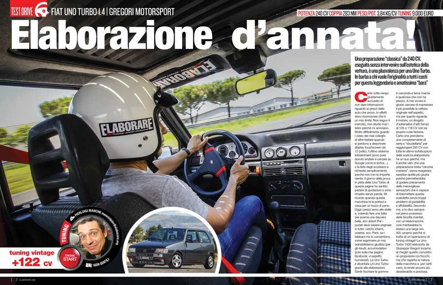 Fiat Uno Turbo 1.4 elaborata con preparazione Gregori Motorsport
