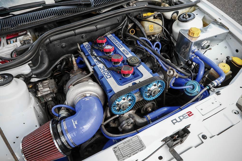 Ford Escort RS Cosworth elaborata con preparazione Al.Pe. 2 Motors - Motore