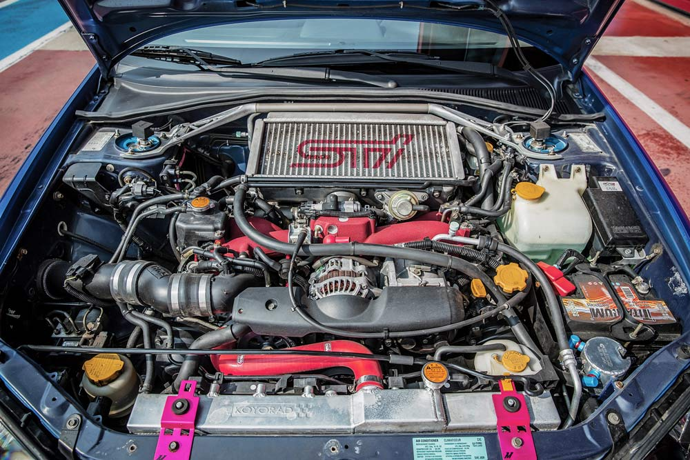 Subaru Impreza STi elaborata con preparazione Ganazzin motore