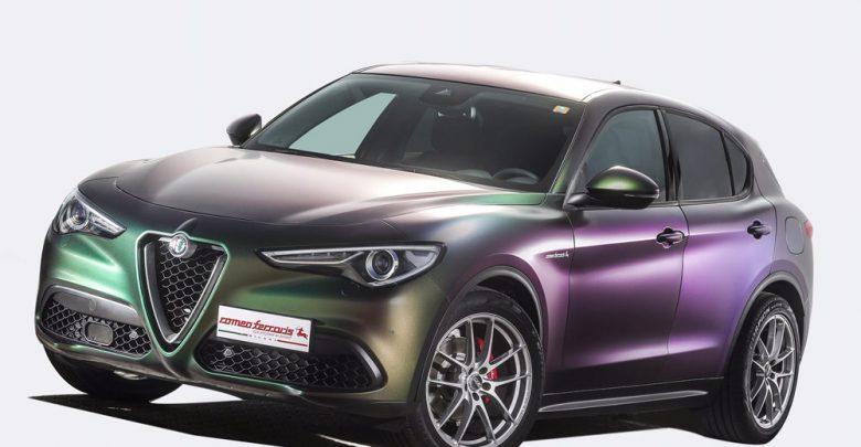 Alfa Romeo Stelvio con preparazione 200 CV con accessori Romeo Ferraris