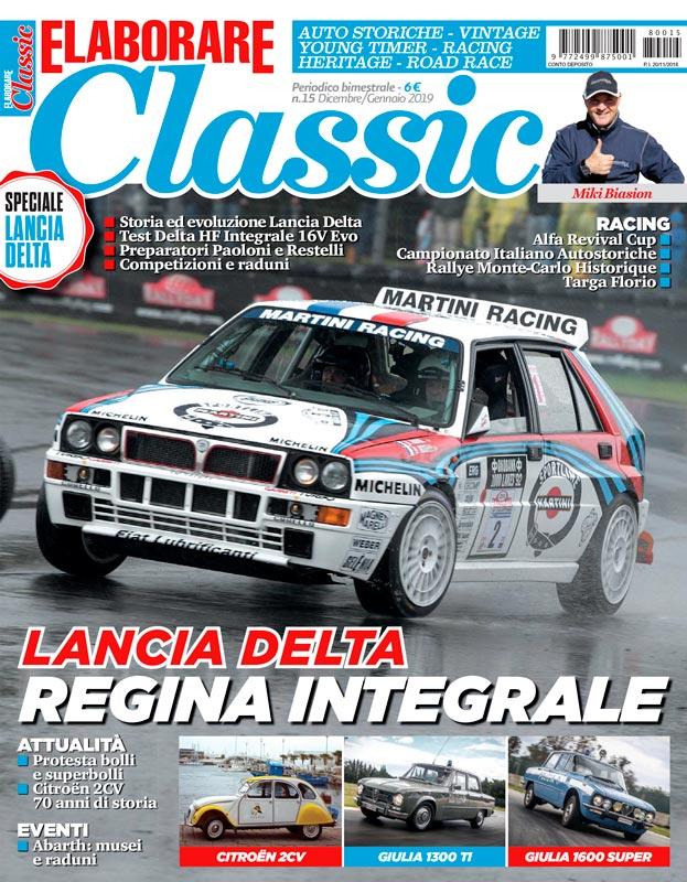 ELABORARE CLASSIC magazine con la prova del kit Abarth 595 alla Targa Florio 2018