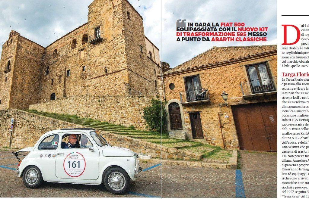 Il test del Kit Abarth 595 alla Targa Florio raccontato sul magazine  ELABORARE CLASSIC