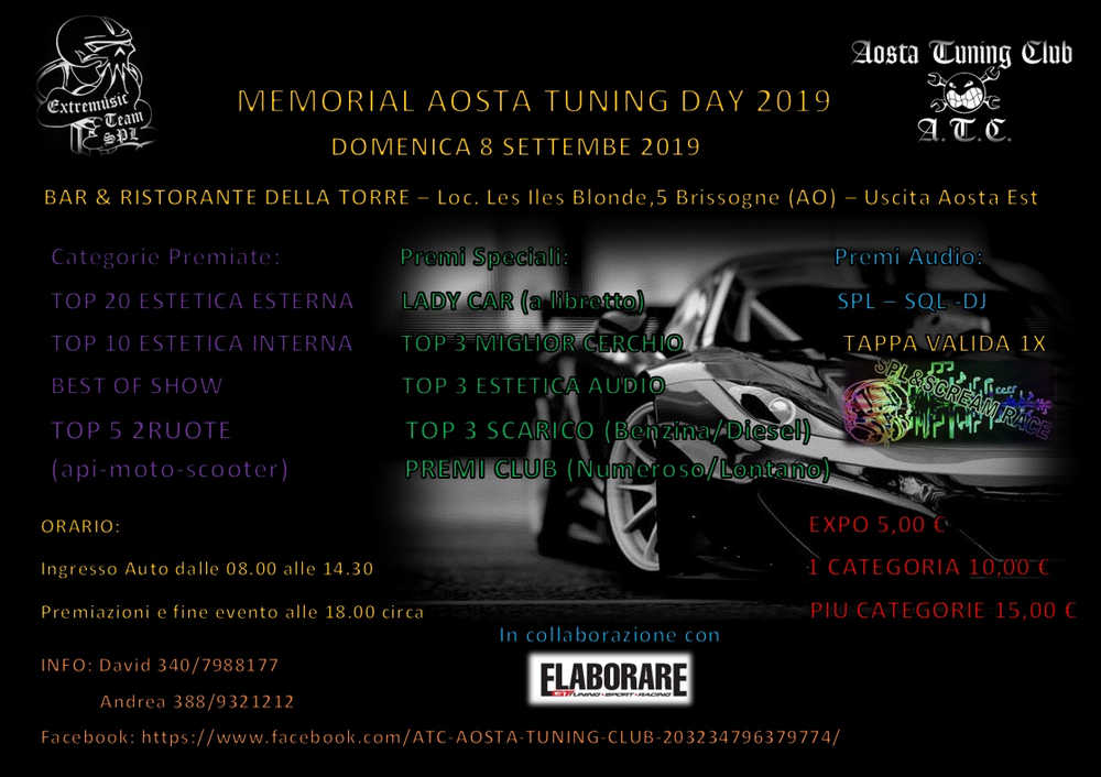 Memorial Aosta Tuning Day