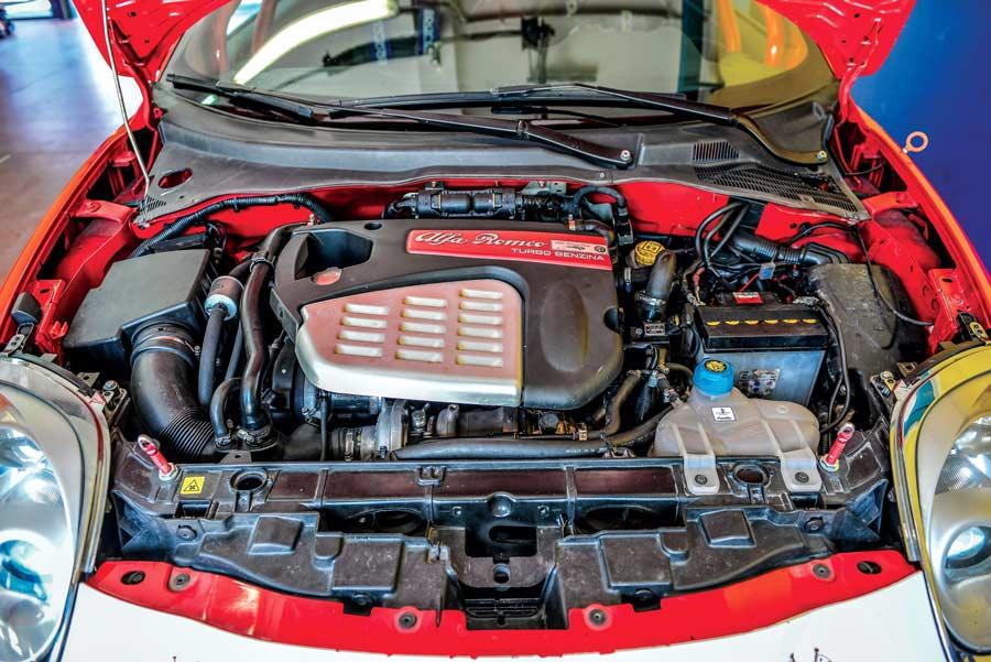 Motore Alfa Romeo MiTo elaborata 208 CV con preparazione Auto Alfa Mosca