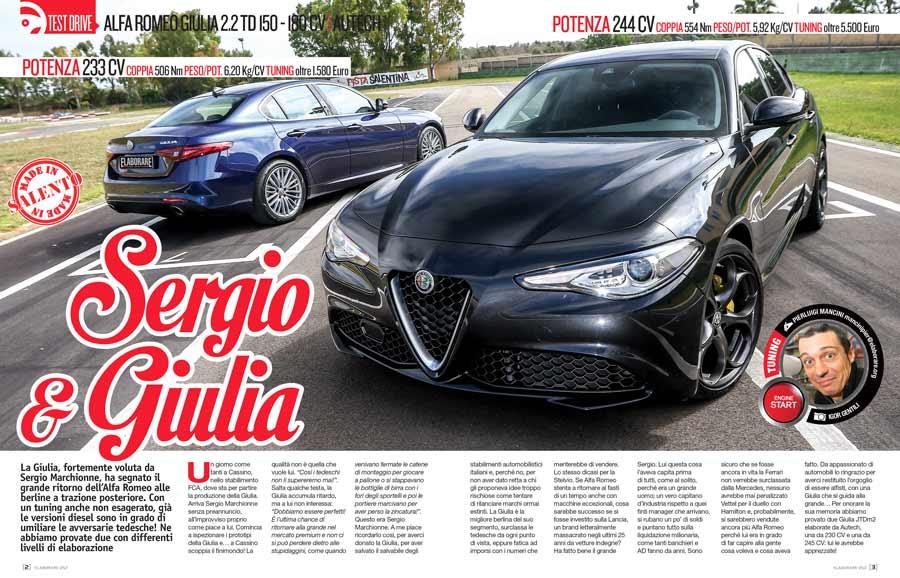 Alfa Romeo Giulia 2.2 TD elaborate