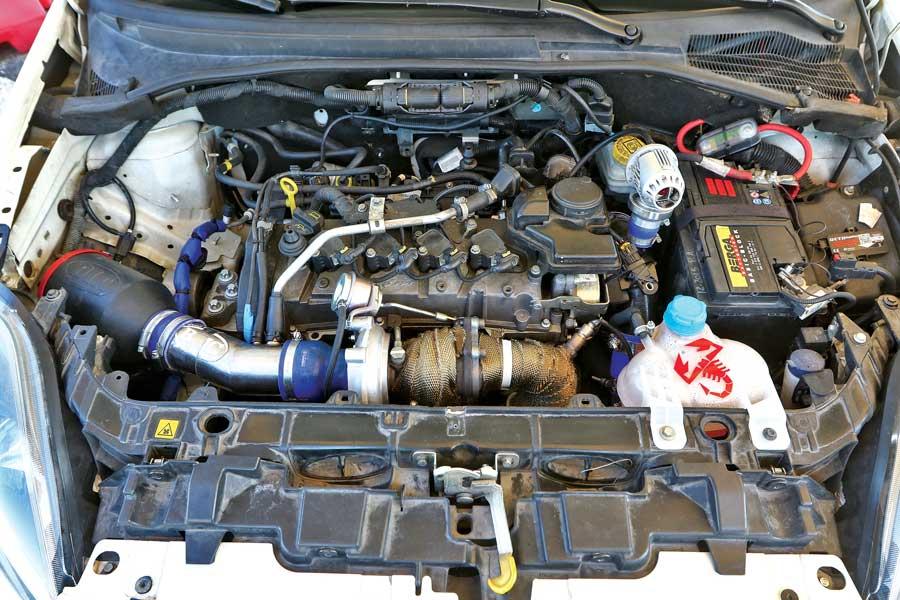 Motore Abarth Punto Evo elaborata 268 CV con preparazione Elaborazioni Taglienti