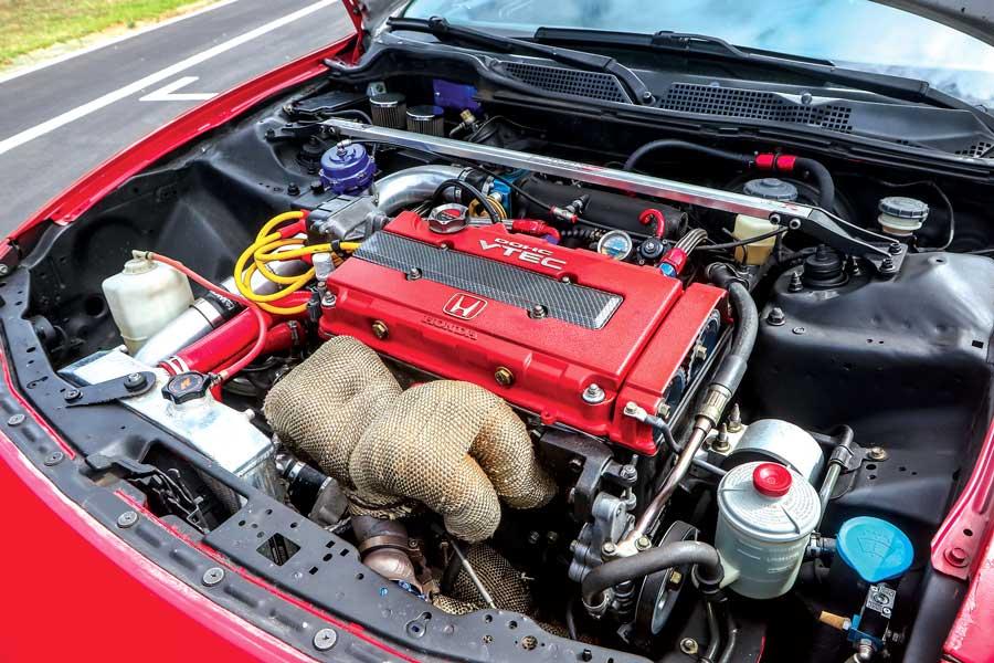 Honda Integra Type R elaborata 480 CV - motore