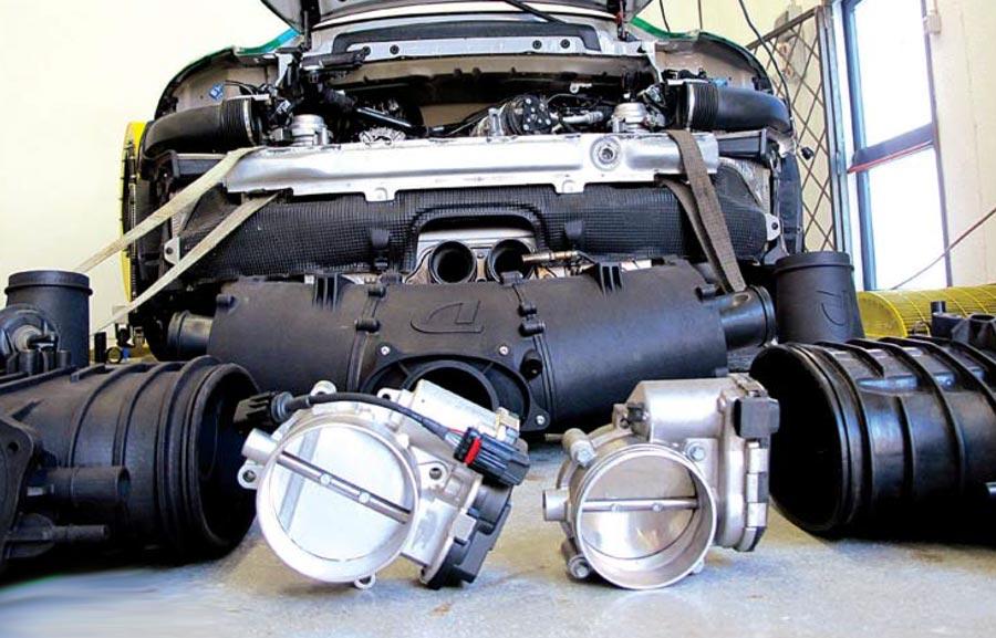 Porsche 991 GT3 RS motore e componenti preparazione Forieri