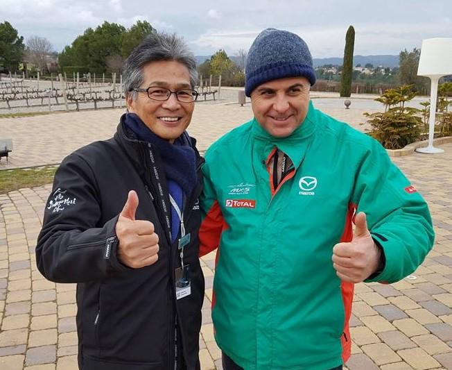 Nobhuiro Yamamoto patron della MX-5 con Giovanni Mancini