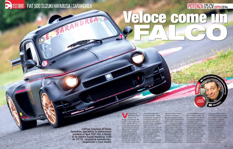 FIAT 500 PROTO Suzuki sul magazine Elaborare 270